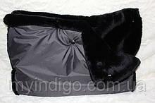 Муфта для рук сіре на чорному мутоне