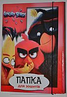 Папка для тетрадей, на резинке, В5 / Angry Birds