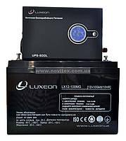 Комплект резервного питания ИБП Luxeon UPS-500L + АКБ LX12-100MG, фото 1