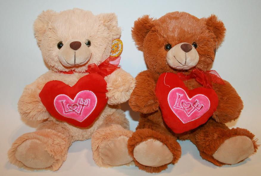 Медведь с сердцем (музыкальный, 27 см)