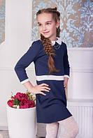 Изящное школьное платье с воротником для девочки