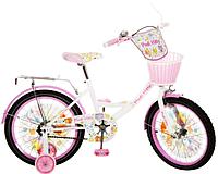 Детский двухколесный велосипед PROF1 мульт 18 дюймов PK1854G-B Kitty (бело-розовый)