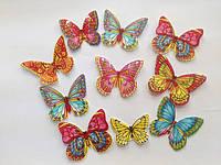 """Вафельные украшения""""Бабочки"""",10шт..в ассортим.(код 00306)"""
