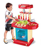 Кухня детская игрушечная 008-58 А, различная посуда, световые и звуковые эффекты, работа от батареек