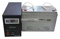 Комплект резервного питания ИБП Logicpower LPY-B-PSW-500 + АКБ LP-MG120, фото 1