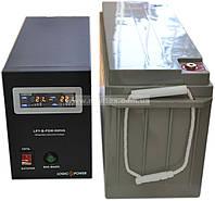 Комплект резервного питания ИБП Logicpower LPY-B-PSW-500 + АКБ LP-MG150, фото 1