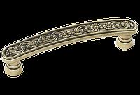 Ручка-скоба классическая AMUR-055-96-AE античная бронза 96 мм, фото 1