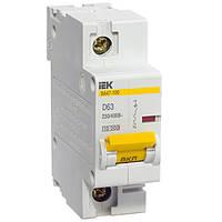 Автоматический выключатель ВА 47-100, 1Р 25А 10кА х-ка D, MVA40-1-025-D, ИЭК