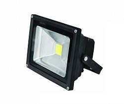 Светодиодный прожектор LED-FL-20(black), COB, 20 Вт, белый холод., Eurolamp