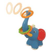 Игрушка кольцеброс Ловкий слоненок свет звук Kiddieland 053553