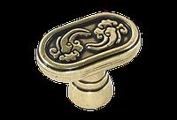 Ручка кнопка классическая AMGR-055-AE античная бронза
