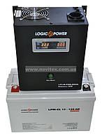 Комплект резервного питания ИБП Logicpower LPY-W-PSW-500 + АКБ LP-GL120, фото 1