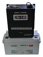 Комплект резервного питания ИБП Logicpower LPY-W-PSW-500 + АКБ LP-GL65, фото 1