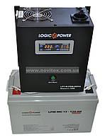 Комплект резервного питания ИБП Logicpower LPY-W-PSW-500 + АКБ LP-MG120, фото 1
