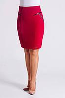 Женская юбка карандаш красного цвета