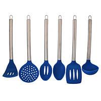 Набор кухонных принадлежностей 6 предметов (синий)