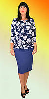 Платье с напуском темно-синего цвета, фото 1