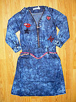 Джинсовые платья для девочек оптом, Seagull, 134-164 рр., фото 1