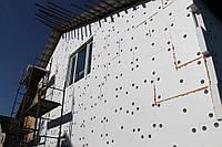 Фасадное утепление пенопластом 100мм