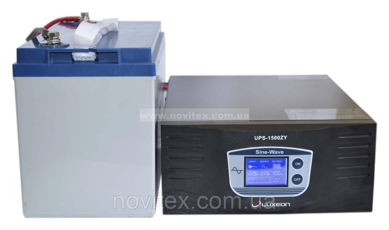 Комплект резервного питания ИБП Luxeon UPS-1500ZY + АКБ LX12-100G
