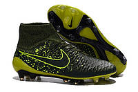 Футбольные бутсы Nike Magista Obra FG Dark Citron/Volt/Black, фото 1