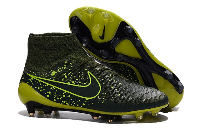 Футбольные бутсы Nike Magista Obra FG Dark Citron/Volt/Black