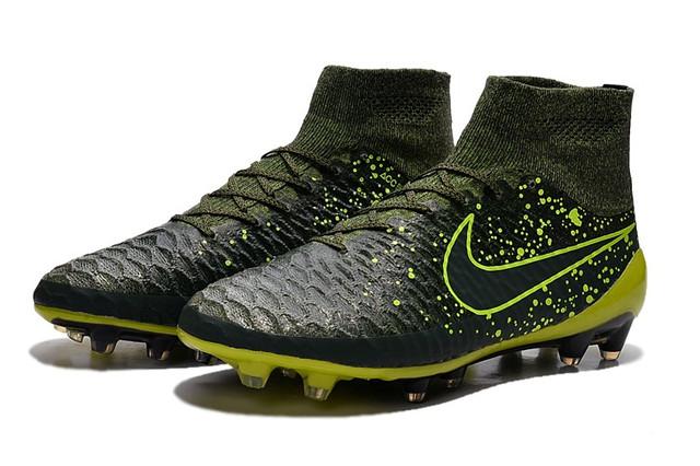 Футбольные бутсы Nike Magista Obra FG Dark Citron/Volt/Black