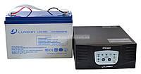 Комплект резервного питания ИБП Luxeon UPS-500ZY + АКБ LX12-100G