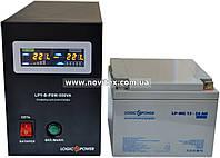 Комплект резервного питания ИБП Logicpower LPY-B-PSW-500 + АКБ LP-MG26, фото 1