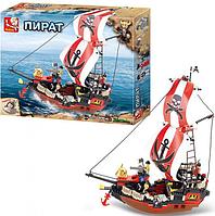 Конструктор SLUBAN M38-B0127 пираты, корабль (379 деталей)