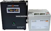 Комплект резервного питания ИБП Logicpower LPY-W-PSW-500 + АКБ LP-GL40, фото 1
