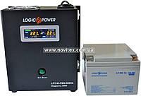 Комплект резервного питания ИБП Logicpower LPY-W-PSW-500 + АКБ LP-MG26, фото 1