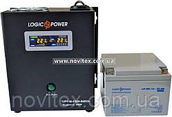 Комплект резервного питания ИБП Logicpower LPY-W-PSW-500 + АКБ LP-MG26