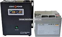 Комплект резервного питания ИБП Logicpower LPY-W-PSW-500 + АКБ LP-MG40, фото 1