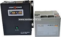 Комплект резервного питания ИБП Logicpower LPY-W-PSW-500 + АКБ LP-MG45, фото 1