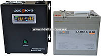 Комплект резервного питания ИБП Logicpower LPY-W-PSW-500 + АКБ LP-MG55, фото 1