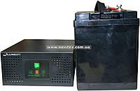 Комплект резервного питания ИБП Luxeon UPS-600NR + АКБ LX12-100MG, фото 1
