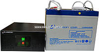 Комплект резервного питания ИБП Luxeon UPS-600NR + АКБ LX12-60G, фото 1