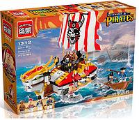 """Конструктор """"Пиратский корабль"""" 1312 Brick (464 детали)"""