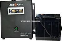Комплект резервного питания ИБП Logicpower LPY-W-PSW-500 + АКБ LPM12-65, фото 1