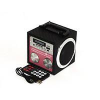 Радиоприемник колонка MP3 USB FM плеер YY-03 Pink