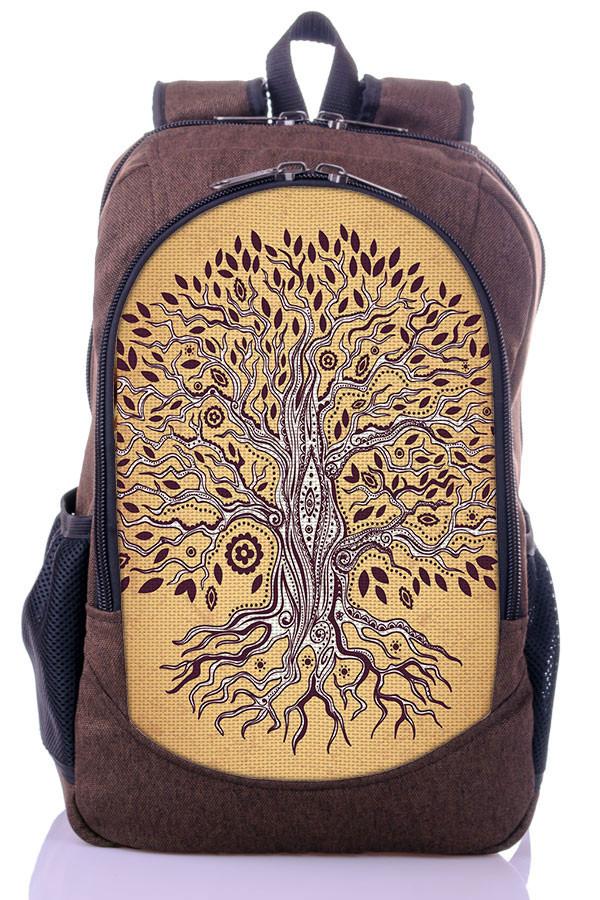 """Взрослый рюкзак """" Дерево Жизни"""" (коричневый)"""