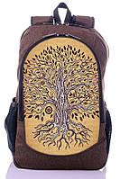 """Взрослый рюкзак """" Дерево Жизни"""" (коричневый), фото 1"""