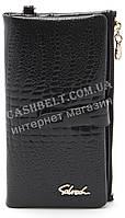 Женский удобный кошелек барсетка черного  цвета SACRED art.8209