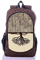 """Взрослый рюкзак """" CITY"""" (коричневый), фото 1"""
