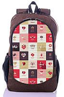 """Взрослый рюкзак """" LOVE"""" (коричневый), фото 1"""