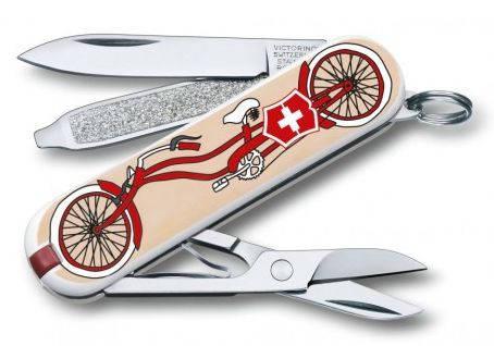 Перочинный нож для путешествий Victorinox Classic Bicycle 06223.L1506 разноцвет