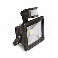 Светодиодный прожектор с датчиком движения LED-FL-10(sensor), COB, 10 Вт, Eurolamp