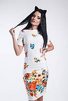 Платье элегантное цветы купон Divani 1002/2