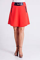 Красивая молодёжная юбка красного цвета